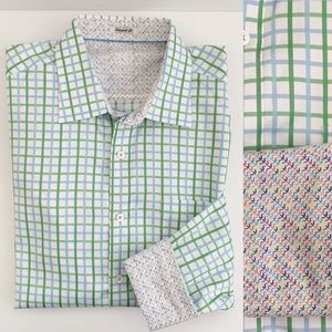Bugatchi Uomo Shaped Fit Contrast Cuff Shirt XL
